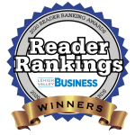 Scherline and Associates wine best Personal Injury Firm in the Lehigh Valley in 2020 by Reader Ranking Lehigh Valley Business Awards